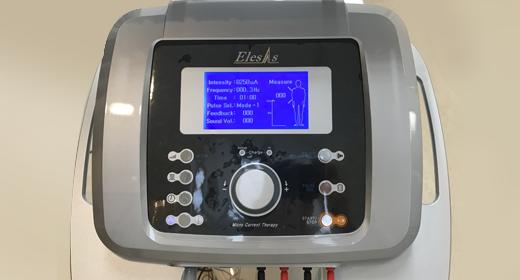 電気刺激療法「微弱電流治療器」